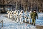 Xem lính thủy đánh bộ Nga thực hành bắn súng bộ binh ở Vladivostok