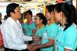 Chủ tịch nước Trương Tấn Sang chúc Tết công nhân lao động