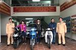 Đội Cảnh sát Giao thông số 2 Hà Nội trao trả 4 chiếc xe máy bị mất cắp