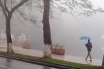 Bắc Bộ xuất hiện sương mù dày đặc, mưa phùn rải rác