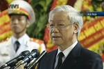 Tổng Bí thư Nguyễn Phú Trọng xúc động đọc lời Điếu truy điệu Đại tướng