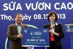 """42.000 ly sữa của """"Quỹ sữa Vươn Cao Việt Nam"""" đến với trẻ em Phú Thọ"""