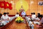 Trưởng Ban Kinh tế Trung ương làm việc với Thường trực Tỉnh ủy Long An