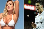 Á hậu Brazil tìm đến tận nhà Ronaldo