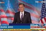 Romney gần như phát khóc khi thừa nhận thất bại