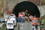 Hiện trường vụ sập đường hầm ở Nhật Bản