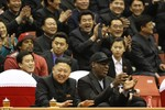 Kim Jong-un vui mừng đón tiếp thần tượng bóng rổ Mỹ