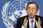 Ông Ban Ki-moon quan ngại về việc Israel không kích Syria