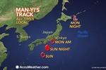 Video: Bão lớn đổ bộ Nhật Bản, 500.000 người phải sơ tán