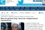 Truyền thông quốc tế trước tin Đại tướng Võ Nguyên Giáp qua đời