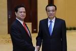 Thủ tướng Nguyễn Tấn Dũng hội đàm với Thủ tướng Trung Quốc