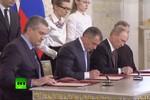 Putin ký hiệp ước sáp nhập Crimea, không lấy thêm khu vực khác