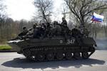 Xe bọc thép Nga đã tiến vào lãnh thổ Ukraine?