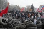 """Phe biểu tình Ukraine: Nội chiến đã bắt đầu, quân đội sắp """"đàn áp"""""""