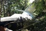 Video: Hiện trường rơi máy bay quân sự tại Lào