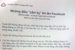 """Trường Lương Thế Vinh và những điều """"cấm kỵ"""" nếu học trò lên facebook"""