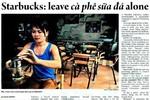 Starbucks: Hãy để cho cà phê sữa đá được yên