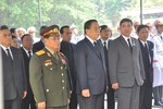 Tổng Bí thư, Chủ tịch nước CHDCND Lào viếng Đại tướng Võ Nguyên Giáp