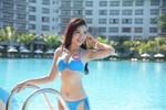 """Thí sinh Hoa hậu Việt Nam 2014 diện bikini """"hớp hồn"""" du khách"""