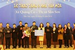 Tập đoàn FLC trao tặng 6 nhà văn hóa cho xã Quảng Cư, thị xã Sầm Sơn