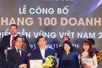 FrieslandCampina Việt Nam được vinh danh Top 10 doanh nghiệp bền vững 2016