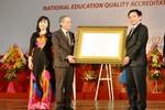 Trường Đại học Dân lập đầu tiên được trao chứng nhận kiểm định chất lượng
