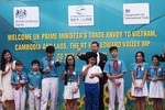 Đại sứ Anh chơi trò chơi và giao lưu với học sinh Đà Nẵng
