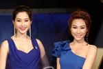 HH Thu Thảo diện váy xẻ cao đọ vẻ sexy với Ngân Khánh