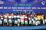 Vinamilk chung tay xoa dịu nỗi đau da cam cho trẻ em Thái Bình