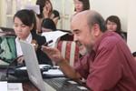 Toàn cảnh buổi gặp mặt của GS Đặng Hùng Võ với bà con Văn Giang