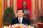 Chủ tịch nước Trương Tấn Sang chúc Tết Quý Tỵ - 2013