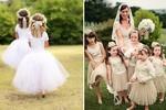 Kết hợp phục trang cho phù dâu nhí