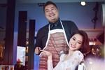 Hoa hậu Thu Thảo thân mật với chàng trai 130 kg