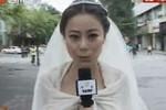 MC xinh đẹp bỏ đám cưới tác nghiệp động đất