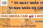 Mỗi tin nhắn sẽ ủng hộ 18.000 đồng đến với các nạn nhân da cam
