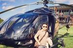 Tranh cãi ảnh Bằng Kiều khoe đi ăn trưa bằng máy bay trực thăng