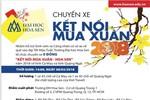 Trường Đại học Hoa Sen tổ chức chuyến xe miễn phí cho sinh viên về quê ăn tết