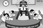 Hiệu trưởng trường Nguyễn Hữu Tiến xuống làm giáo viên