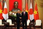 Hình ảnh Lễ đón Nhà vua Nhật Bản và Hoàng hậu thăm chính thức Việt Nam
