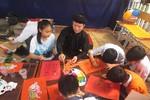Tranh đỏ Kim Hoàng hồi sinh trong trường học