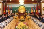 Tổng Bí thư, Chủ tịch nước hội đàm với Tổng Bí thư, Chủ tịch nước Lào