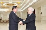 Tổng Bí thư, Chủ tịch nước Nguyễn Phú Trọng hội kiến với Thủ tướng Campuchia