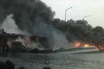 Chiến hạm hiện đại nhất Đông Nam Á tan chảy do hỏa hoạn
