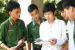 Công bố điểm chuẩn vào các trường quân đội