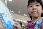 Giọt mồ hôi và những bức tranh về biển Việt Nam của các bé mầm non