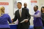 Tổng thống Obama đi bầu cử sớm ở Chicago