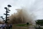 Bão số 2: Đồ Sơn - Hải Phòng sóng biển dâng cao, nước ngập trên 1 mét