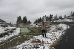 Tuyết phủ trắng một vùng biên ải ở Mèo Vạc - Hà Giang