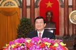 Chủ tịch nước Trương Tấn Sang chúc Tết Giáp Ngọ 2014