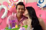 Ngọc Trinh hôn 'trai lạ' trong ngày sinh nhật
